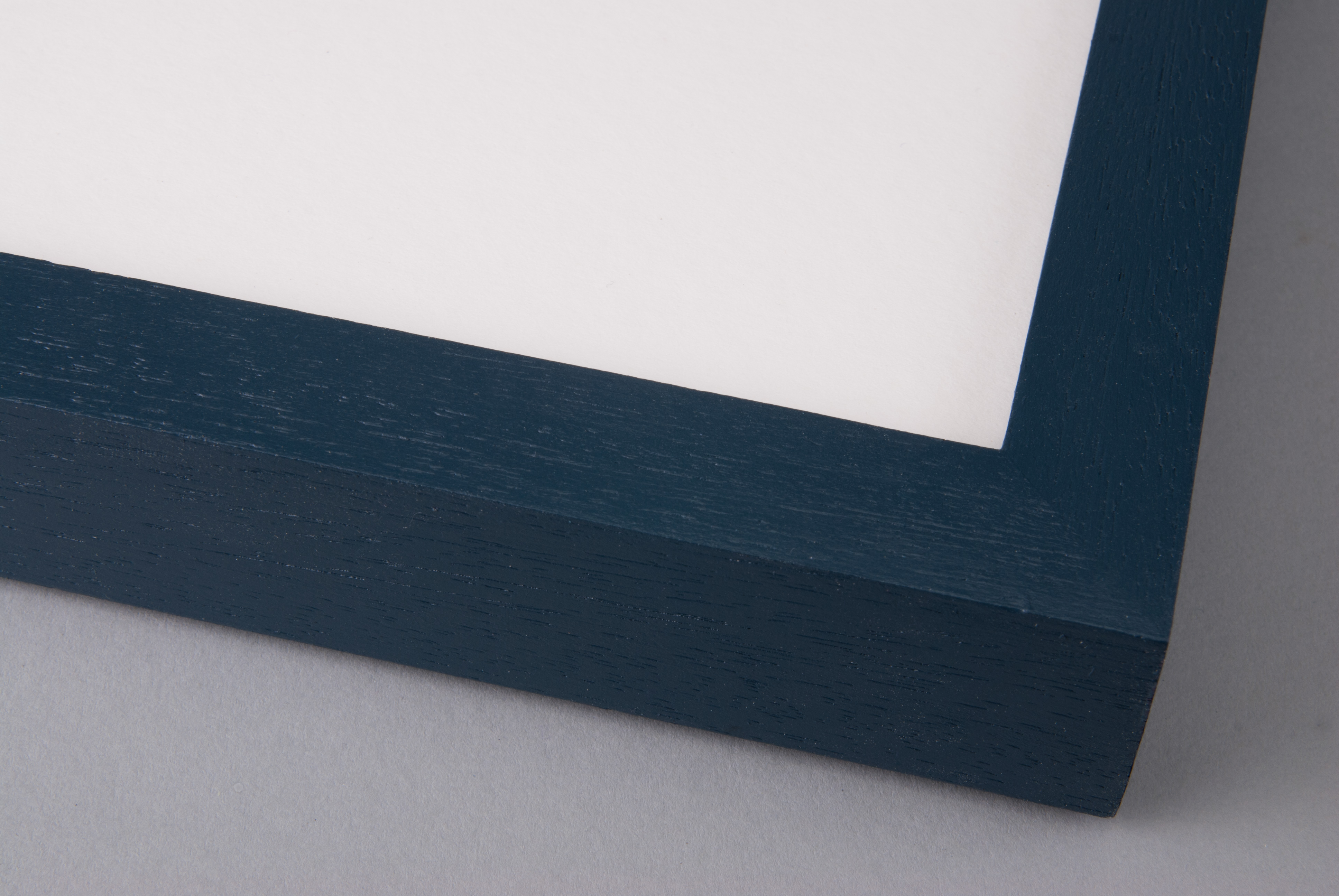 Hand Painted Hague Blue on Box Obeche