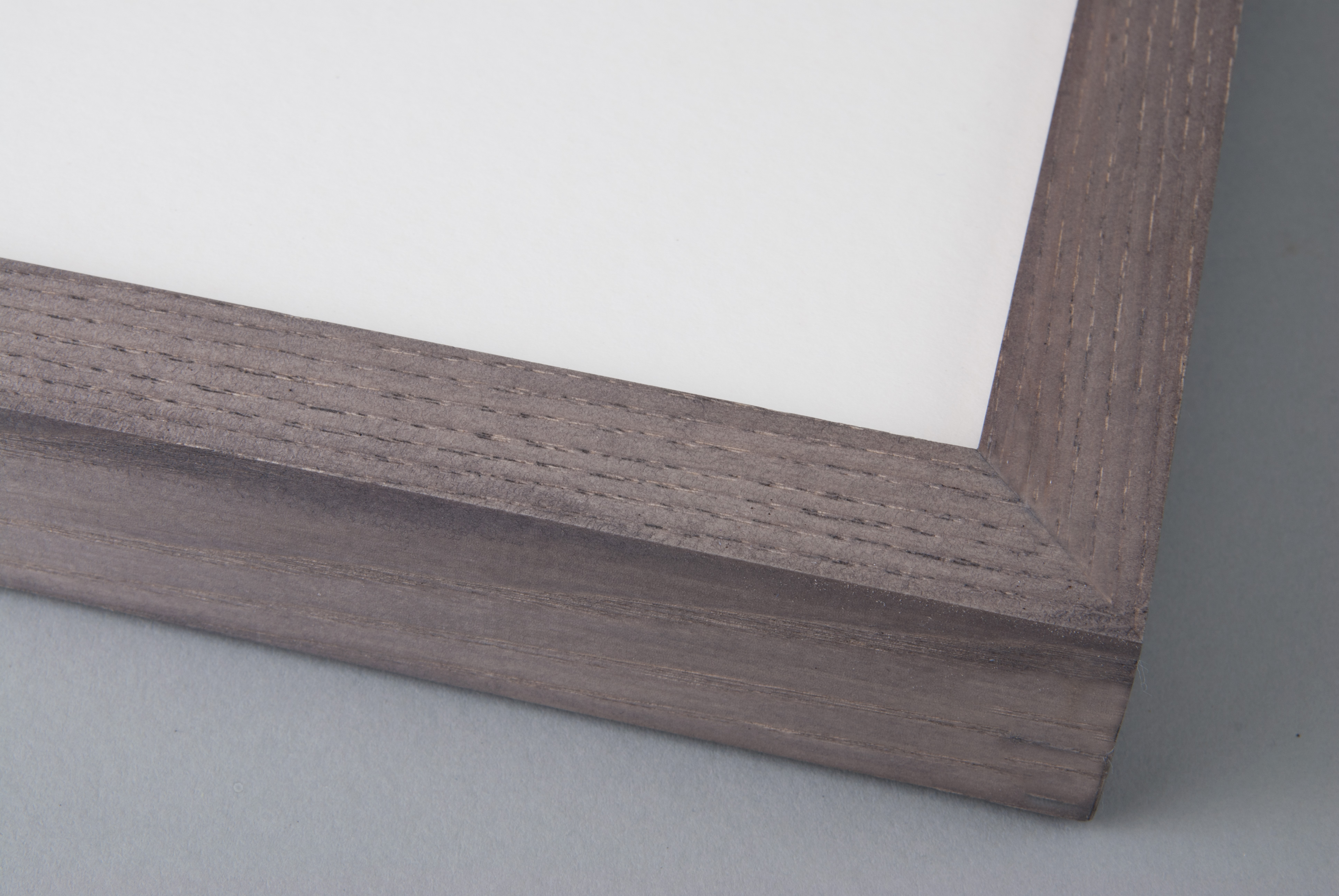 Hand Stained Light Grey on Box Ash