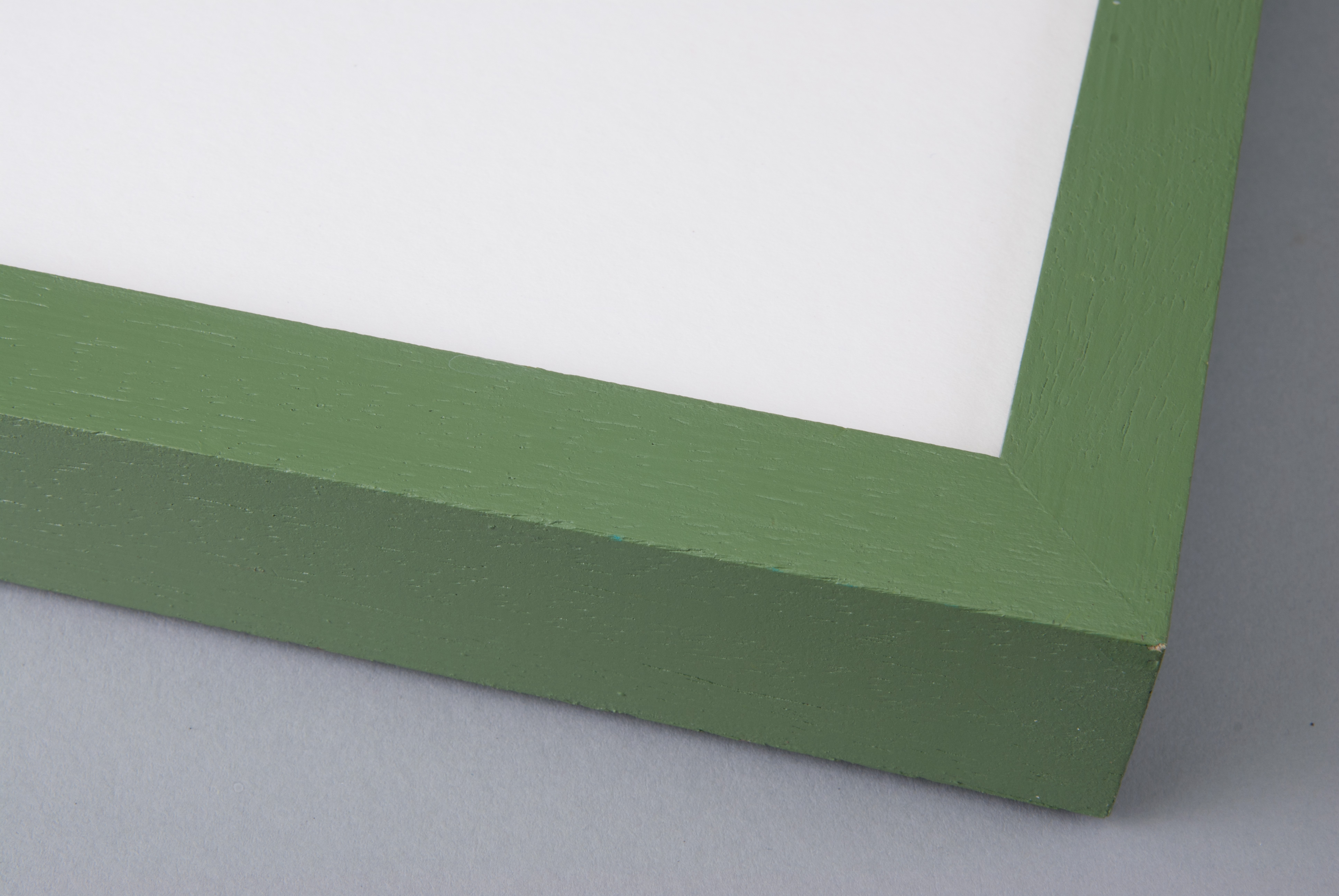 Hand Painted Moss Green on Box Obeche