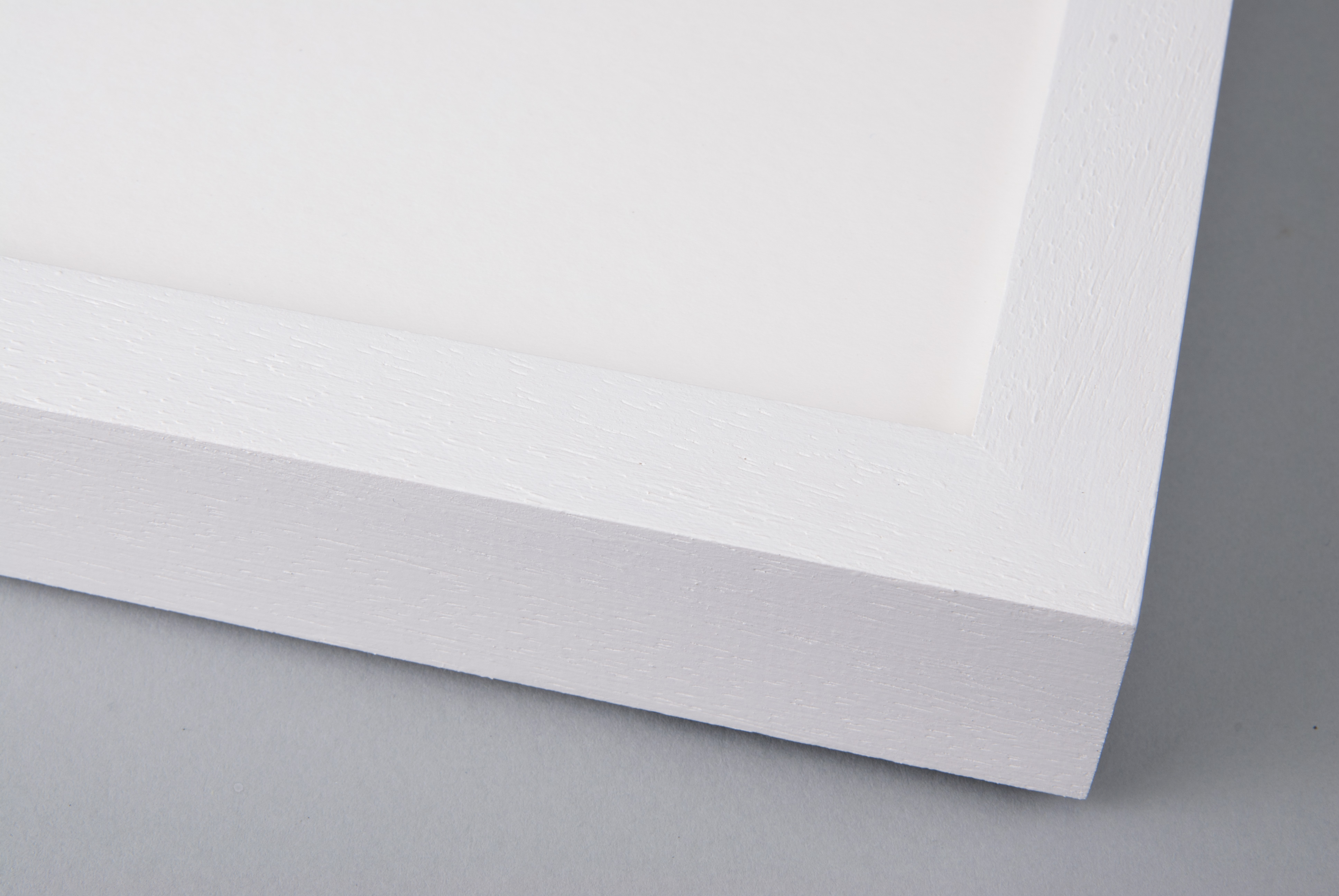 Hand Painted Wimbourne White on Box Obeche